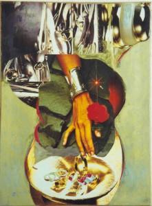 l' Alchimista - collage su quadro stampa  laura bottagisio